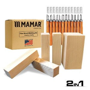 12 Piece Carbon Steel Tools and 5 Large Wood Blocks