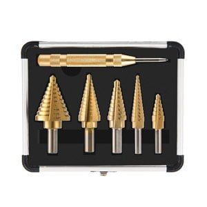 Drill Bits Set for Sheet Metal with Aluminum Case