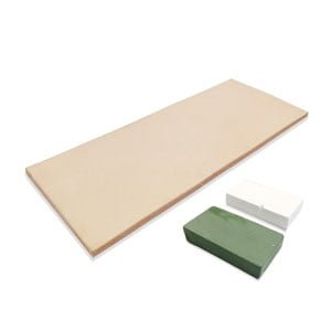 Leather Honing Strop 3 Inch by 8 Inch with 2oz