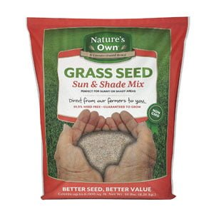 Natures Own Sun & Shade Mix Grass Seed