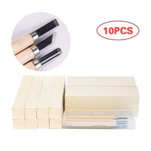 Whittling Beginners Soft Wood Carving Block Set